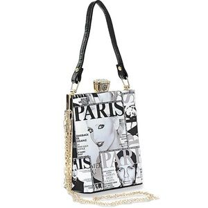 COMING SOON Paris Magazine Print Handbag
